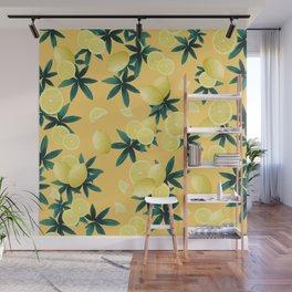 Lemon Twist Vibes #3 #tropical #fruit #decor #art #society6 Wall Mural