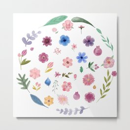 Centro de flores Metal Print