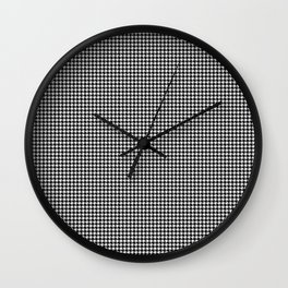 Classic Vintage Black and White Houndstooth Pattern Wall Clock