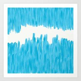 Sea of Blue Painted Art Print