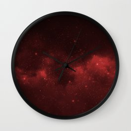 Fascinating view of the red cosmic sky Wall Clock