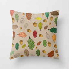 Oak pattern Throw Pillow
