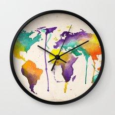 World Splash Wall Clock