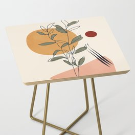 Minimal Line Young Leaves Side Table