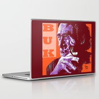 popart Laptop & iPad Skins featuring Charles Bukowski - PopART by ARTito