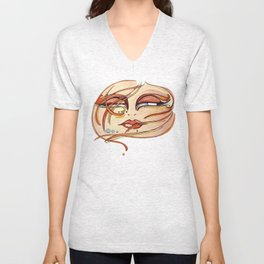 Eyes! Watercolor, acuarela Unisex V-Neck