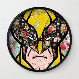 Floral (Wolverine)James Logan Howlett Wall Clock