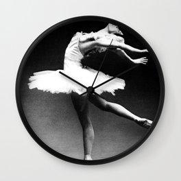 Swan Lake Ballet Magnificent Natalia Makarova black and white photograph  Wall Clock