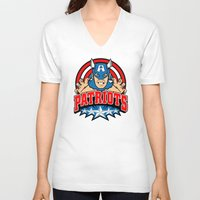 patriots V-neck T-shirts featuring Patriots by Buby87