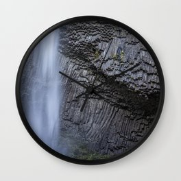 Water and Rock of Latourell Falls Wall Clock