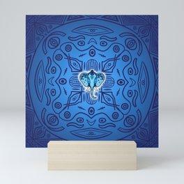 Blue Elephant Mini Art Print