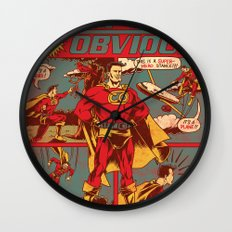 Captain Obvious! Wall Clock