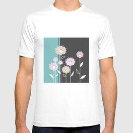 Floral applique . Retro . T-shirt