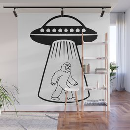 Bigfoot UFO Abduction Wall Mural