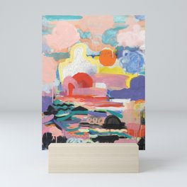 Clouds are made in a Rainbow Castle Mini Art Print