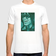 keep smiling option two! White Mens Fitted Tee MEDIUM