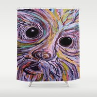 schnauzer Shower Curtains featuring Schnauzer by EloiseArt