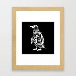 kuro penguin Framed Art Print