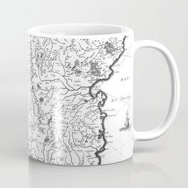 Vintage Map of Sicily Italy (1600s) BW Coffee Mug