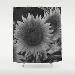 girasol (blanco y negro) Shower Curtain
