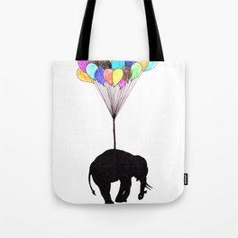 Elephant on balloons Tote Bag
