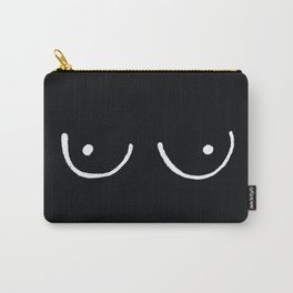 Black Boobs Carry-All Pouch