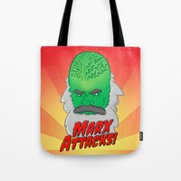 marx Tote Bags featuring Marx Attacks! by ericbennettart