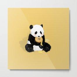 Little Panda Metal Print