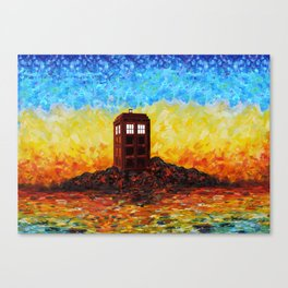 Time and Space Traveller Box in Twilight Zone Canvas Print