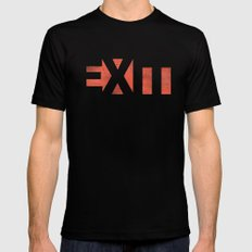EXIT Black Mens Fitted Tee LARGE