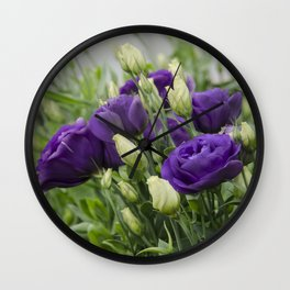 Blue Lisianthus Wall Clock
