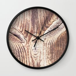 wood face Wall Clock