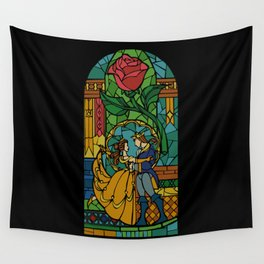 Beauty and The Beast - Stained Glass Wall Tapestry