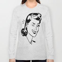 Winking Woman Long Sleeve T-shirt