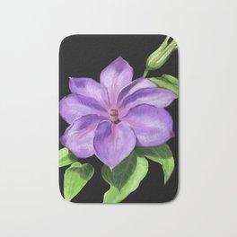 The Purple Clematis Bath Mat