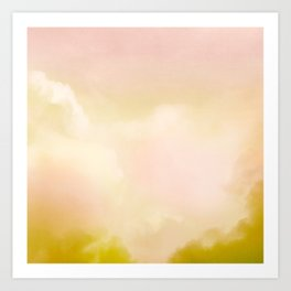 Abstract warm cloud background Art Print