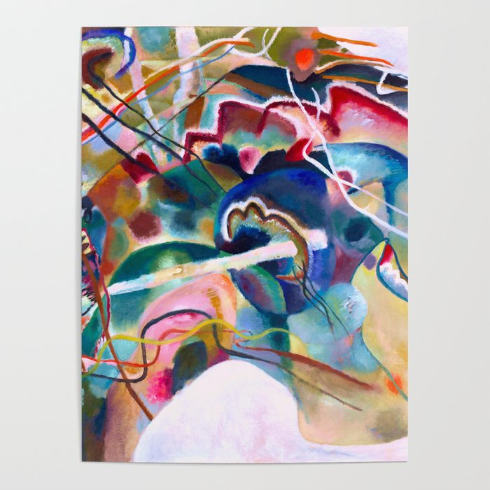 Wassily Kandinsky Painting With White Border Abstract Art Poster By Artexpressiondesign