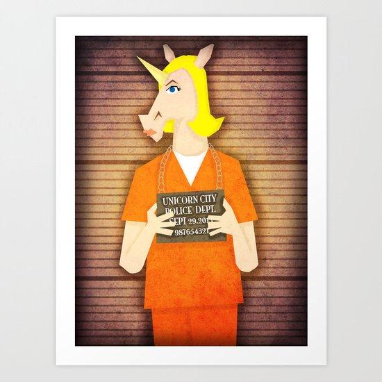 Orange is the New Unicorn Art Print