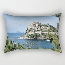 Aragonese Castle - Ischia Rectangular Pillow