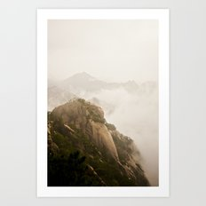 Golden Mountain Art Print