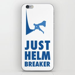 JUST HELM BREAKER BLUE iPhone Skin