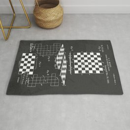 Chess Checkerboard Antique Patent Rug