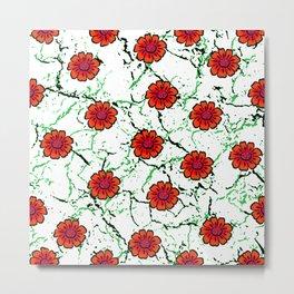 Summer Bloom - Red Metal Print