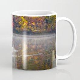 Two Canada Geese swimming in Fall Coffee Mug