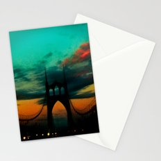 Bridge to Portland - St. Johns - On a Warm October Evening Stationery Cards