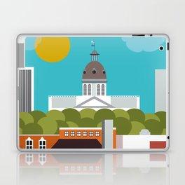 Columbia, South Carolina - Skyline Illustration by Loose Petals Laptop & iPad Skin