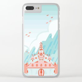 Peach's Castle Clear iPhone Case