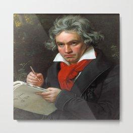 Joseph Karl Stieler - Portrait of Beethoven Metal Print