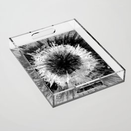 Black and White Tie Dye // Painted // Multi Media Acrylic Tray
