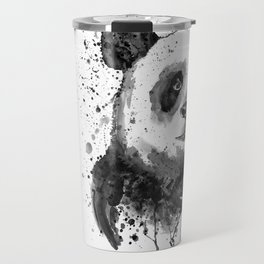 Black And White Half Faced Panda Travel Mug